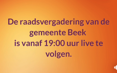 Gemeente Beek live via Baadjou met Microsoft Teams